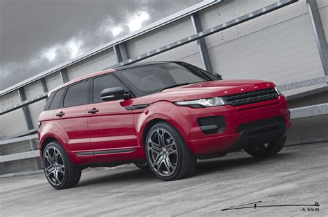land rover kahn kahn red range rover evoque