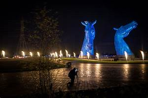 100-foot-tall steel horses pay tribute to Scotland's ...