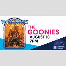 Throwback Thursday  The Goonies!  Clay Center