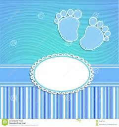 polka dot baby shower invitations card for newborn boy royalty free stock photography