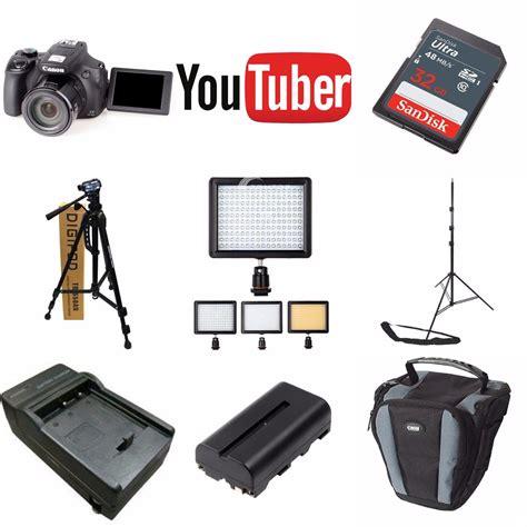 kit youtuber canon sx hs gb tripes led