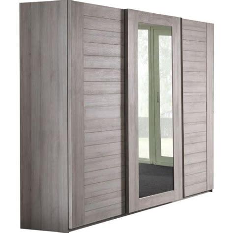 armoire de chambre adulte armoire adulte 280 cm coloris chêne gris achat vente