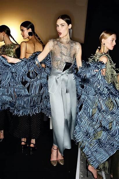 Sasha Luss Backstage Paris Couture Haute Armani