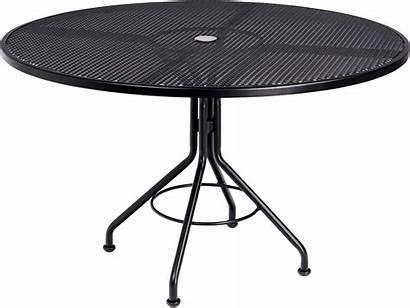 Table Wrought Iron Round Umbrella Dining Mesh