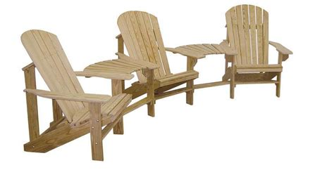 Adirondack Settee by Cypress Adirondack Settee With Optional Ottomans From