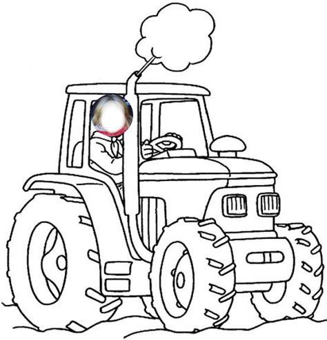 coloriages  imprimer tracteur numero