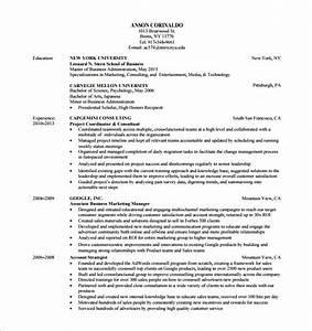 buy side resume With nyu stern resume template