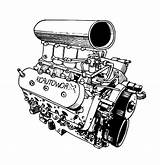 Engine Coloring Blower Diagram Template Radioator Sketch Templates sketch template