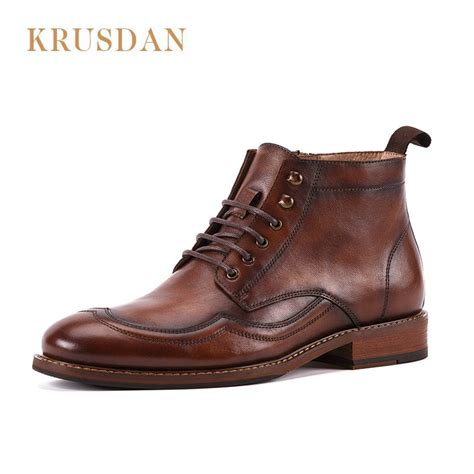 Autumn Winter Casual Genuine Leather Boots Men