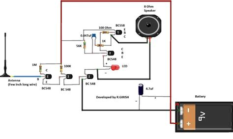 Non Contact Voltage Detector Circuits Using Transistors