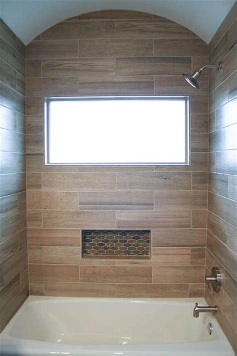 Modern Rustic Slate and Teak Guest Bathroom ? Austin