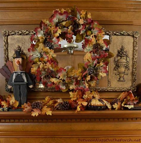decorate  mantel  fall  thanksgiving