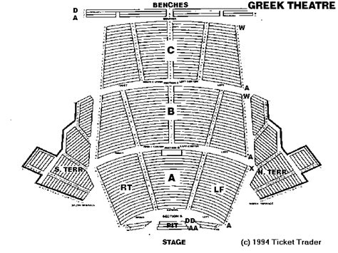 Greek theater berkeley seating plan best seat 2018