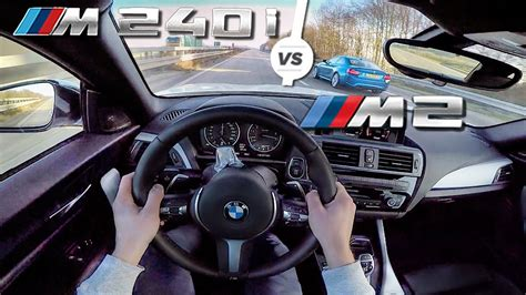 Bmw M240i Vs M2 by Bmw M240i Vs Bmw M2 Autobahn Top Speed Test Drive By