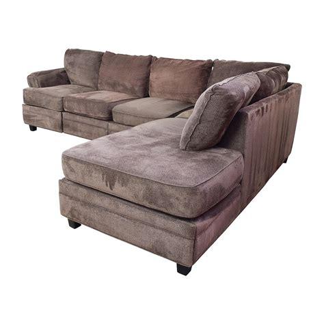 55% Off  Bob's Furniture Bob's Furniture Brown Sectional