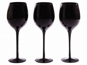 Verre A Vin Noir : verre a pied noir conforama vaisselle maison ~ Teatrodelosmanantiales.com Idées de Décoration