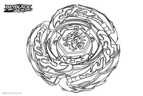 Dragon Beyblade Burst Coloring Pages