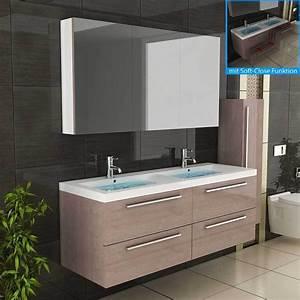 Badmöbel 2 Waschbecken : waschbecken badm bel doppelwaschbecken unterschrank badezimmerm bel eur ~ Markanthonyermac.com Haus und Dekorationen