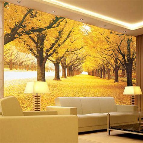 Custom 3d Wall Mural Wallpaper Landscape Natural Autumn