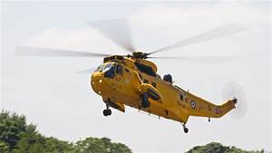 Sea King Helicopter Above In The Air