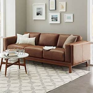 dekalb leather sofa 96quot west elm With sectional sofas grande prairie ab
