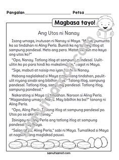 filipino images st grade worksheets reading