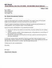 Dental Receptionist Resume Skills Dental Receptionist Cover Letter Sample