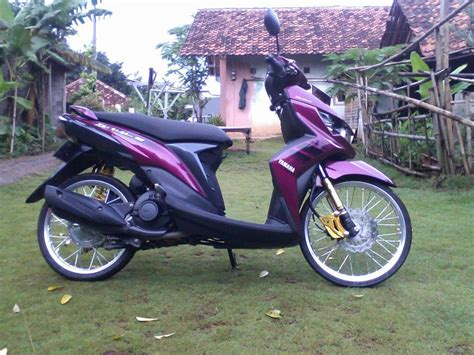 mio soul modifikasi warna ungu modifikasi motor kawasaki