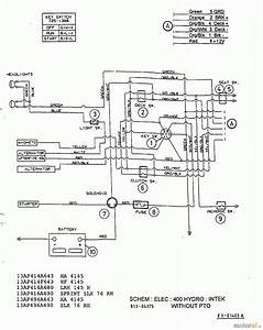 Mtd H 150 B 13bp418f678  2003  Schaltplan Intek Ohne Elektromagnetkupplung Ersatzteile