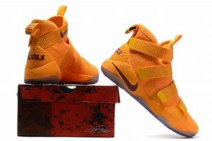 Cheap Nike LeBron Soldier 11 Orange Wine Red For Sale ...