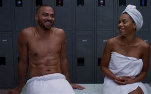 Grey's Anatomy's treated us to a scene with Jesse Williams ...