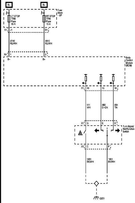 Wiring Diagram Turn Brake Wiper Multi Function Switch