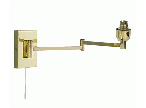 swing arm traditional wall light polished brass pd8163 bs