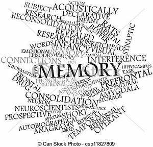 Stock Illustration of Memory - Abstract word cloud for ...