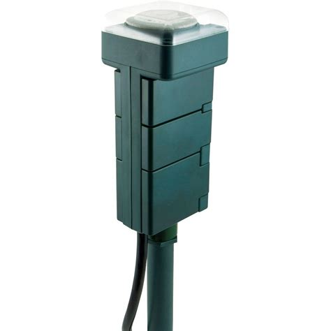 christmas light timer home depot jasco products outdoor stake timer 29972 the home depot