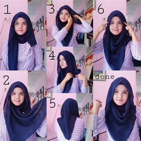 tutorial model hijab paris segi empat simple modis