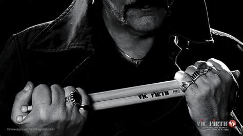 Drums drum sticks Vic Firth Carmine Appice wallpaper