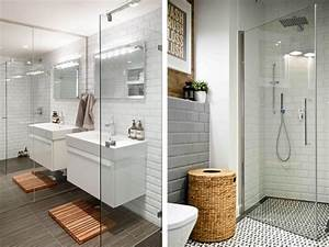 15 salles de bains avec du carrelage metro joli place With carrelage salle de bain metro