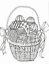 Easter Coloring Egg Faberge Crafts sketch template