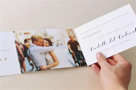 invitaciones de boda  fotos de novios elegante