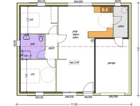 Plan Maison 2 Chambres - plan maison 70m2 3 chambres