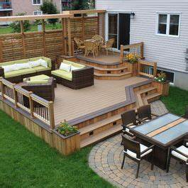 amenagement patio terrasse pinterest patios With modele de terrasse en bois exterieur 4 ecran dintimite exterieur patio du nord