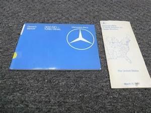 1983 Mercedes Benz 300sd Turbo Diesel Sedan Owner Operator