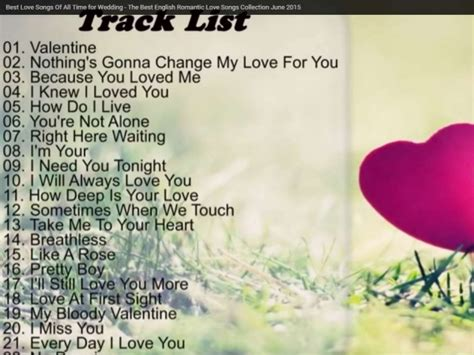 Best Love Songs Of All Time For Wedding