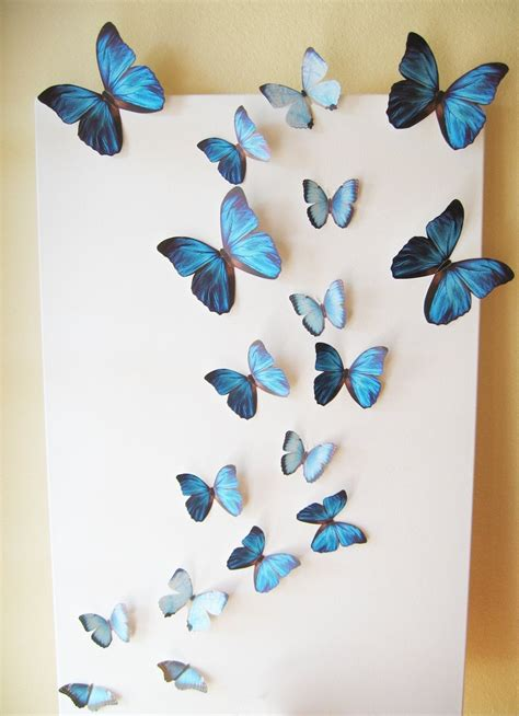 6 3d gold paper butterflies 3d butterfly wall art paperbloominpetals 5 out of 5 stars (21) sale price. 15 Best Collection of White 3D Butterfly Wall Art