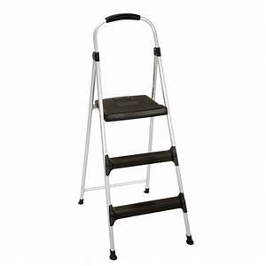 cosco, 3-step, signature, aluminum, step, stool, ladder, with, plastic, steps-11411abl1e