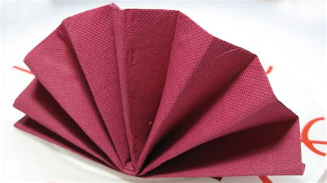 table decoration standing fan napkin fold tutorial
