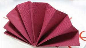 Pliage Serviette En Papier : table decoration standing fan napkin fold tutorial youtube ~ Melissatoandfro.com Idées de Décoration