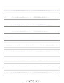 printable handwriting paper  printable paper