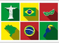 Free Brazil Flat Icon Set Vector Download Free Vector